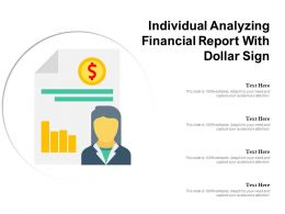 Individual Analyzing Financial Report With Dollar Sign