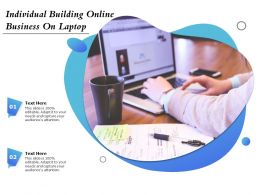 Individual Building Online Business On Laptop
