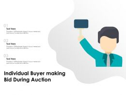 Individual Buyer Making Bid During Auction