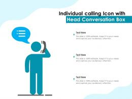 Individual Calling Icon With Head Conversation Box