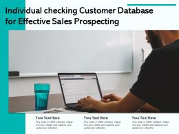 Individual Checking Customer Database For Effective Sales Prospecting