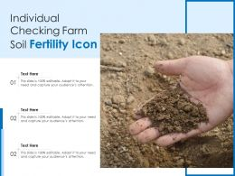 Individual Checking Farm Soil Fertility Icon