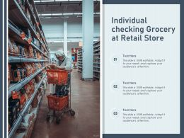 Individual Checking Grocery At Retail Store