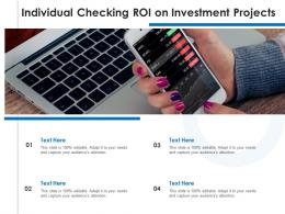 Individual Checking ROI On Investment Projects