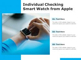 Individual Checking Smart Watch From Apple