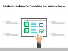 Individual Choosing Between Two Products Online Based On Customer Reviews