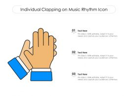Individual Clapping On Music Rhythm Icon