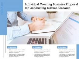 Individual Creating Business Proposal For Conducting Market Research