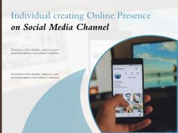Individual Creating Online Presence On Social Media Channel