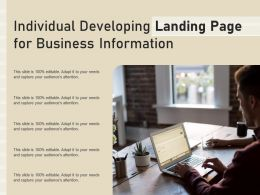 Individual Developing Landing Page For Business Information