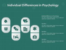 Individual Differences In Psychology Ppt Powerpoint Presentation Show Background