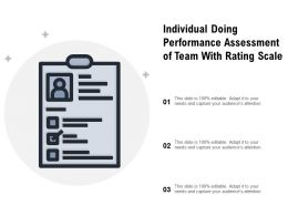 Individual Doing Performance Assessment Of Team With Rating Scale