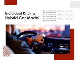 Individual Driving Hybrid Car Model
