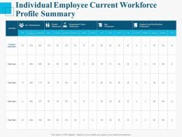 Individual Employee Current Workforce Profile Summary Ppt Powerpoint Presentation Ideas