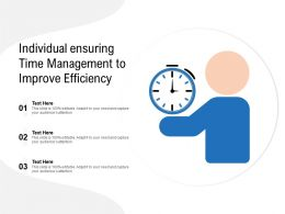 Individual Ensuring Time Management To Improve Efficiency