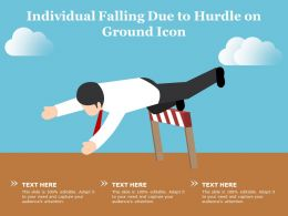 Individual Falling Due To Hurdle On Ground Icon
