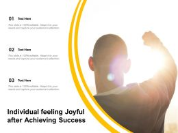 Individual Feeling Joyful After Achieving Success