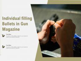 Individual Filling Bullets In Gun Magazine