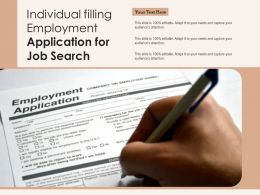 Individual Filling Employment Application For Job Search