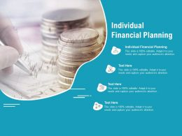 Individual Financial Planning Ppt Powerpoint Presentation File Templates Cpb