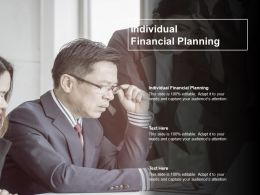Individual Financial Planning Ppt Powerpoint Presentation Outline Example Cpb