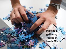 Individual Gathering Pieces Of Puzzle Mix