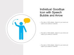 Individual Goodbye Icon With Speech Bubble And Arrow