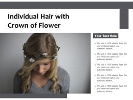 Individual Hair With Crown Of Flower