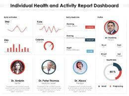 Individual Health And Activity Report Dashboard