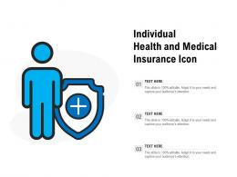 Individual Health And Medical Insurance Icon