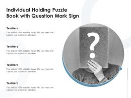 Individual Holding Puzzle Book With Question Mark Sign