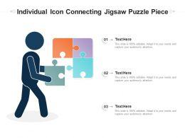 Individual Icon Connecting Jigsaw Puzzle Piece