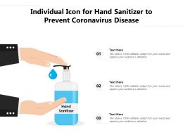 Individual Icon For Hand Sanitizer To Prevent Coronavirus Disease