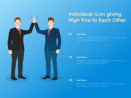 Individual Icon Giving High Five To Each Other