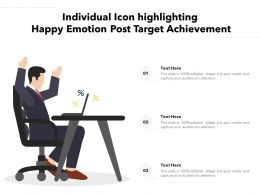 Individual Icon Highlighting Happy Emotion Post Target Achievement