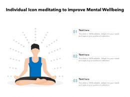 Individual Icon Meditating To Improve Mental Wellbeing