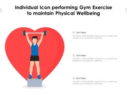 Individual Icon Performing Gym Exercise To Maintain Physical Wellbeing