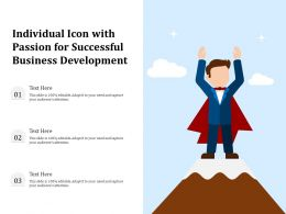 Individual Icon With Passion For Successful Business Development