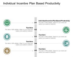 Individual Incentive Plan Based Productivity Ppt Powerpoint Presentation Inspiration Graphics Cpb
