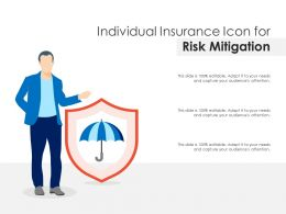 Individual Insurance Icon For Risk Mitigation
