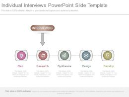 Individual Interviews Powerpoint Slide Template