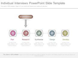 Individual Interviews Powerpoint Slide Template