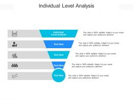 Individual Level Analysis Ppt Powerpoint Presentation Infographics Gallery Cpb