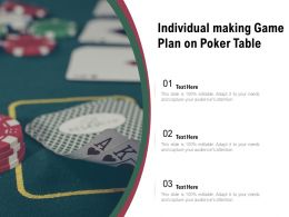 Individual Making Game Plan On Poker Table