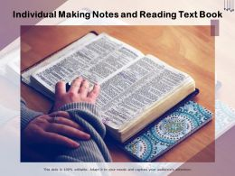 Individual Making Notes And Reading Text Book