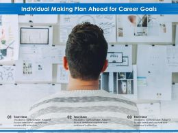 Individual Making Plan Ahead For Career Goals