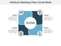 Individual Marketing Plans Social Media Ppt Powerpoint Presentation Aids Cpb
