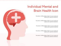 Individual Mental And Brain Health Icon