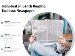 Individual On Bench Reading Business Newspaper