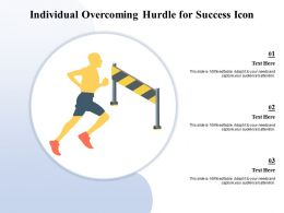 Individual Overcoming Hurdle For Success Icon